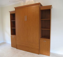 Panel Bed with Two Side Cabinets image