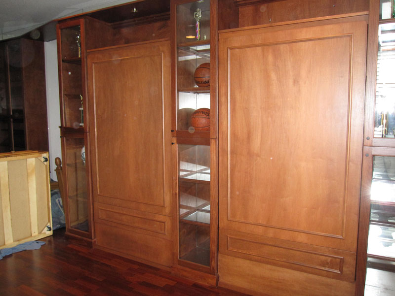 wood murphybed